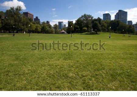 Boston Public Garden in Massachusetts, USA.