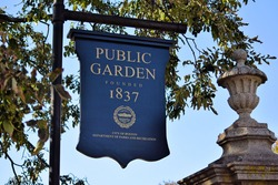 Boston Public Garden Signs and Seals Massachusetts