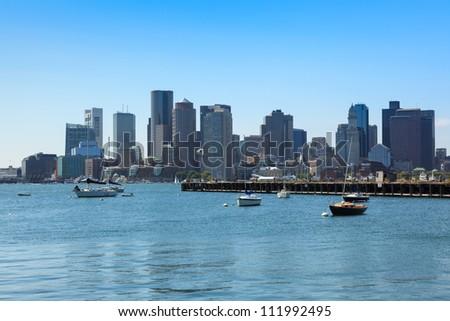 Boston skyline from East Boston, Massachusetts - USA