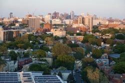 Boston skyline from Peabody Terrace - Cambrige