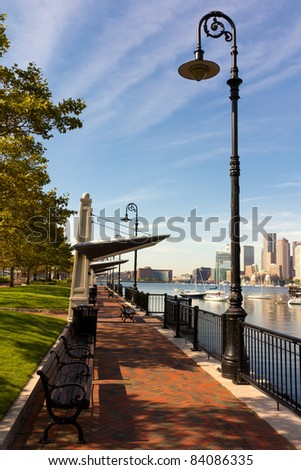 Boston skyline in Massachusetts, USA.