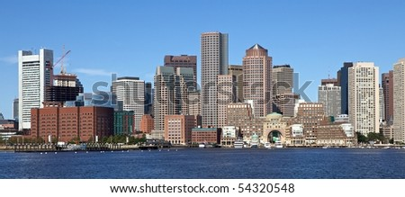 Boston Skyline seen from Boston Harbor