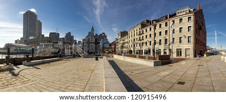 BOSTON, USA - NOVEMBER 24: The Boston Financial District has experienced an office vacancy of about 14% being supplanted by the back bay area in companies occupancy. Seen empty on November 24, 2012.