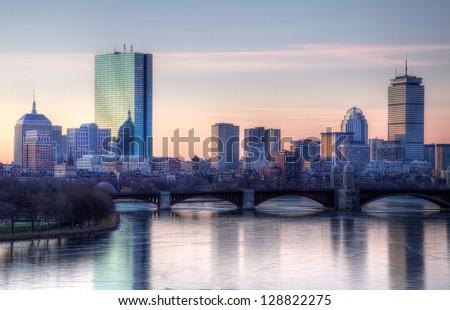 Boston Winter Sunset