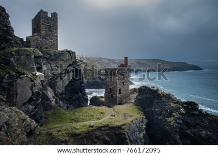 Botallack mines in stormy conditions