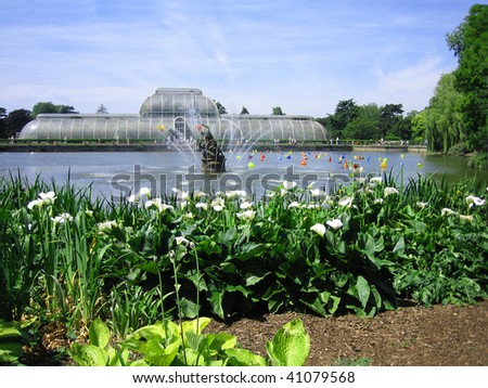 Botanical garden Kew - stock photo