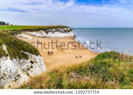 Botany Bay a golden beach on the Thanet, Kent coast on the south east coast of England. Botany Bay is the northernmost of seven bays in Broadstairs. #1202737714