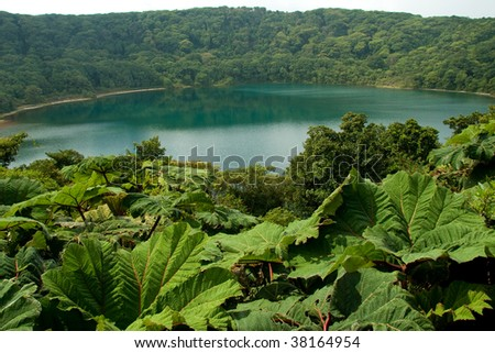 Botos Lagoon is an extinct volcanic crater filled by rainwater. It still countains traces of acidity due to its origin.