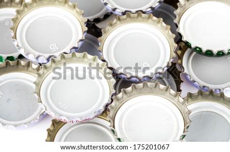 Bottle caps background