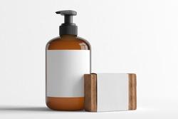 Bottle cosmetic mock up - 3d rendering