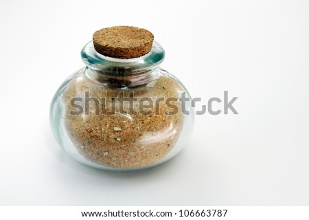Bottle filled with sand