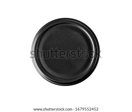 bottle lid isolated on white background, top view with clipping path Stockfoto ©