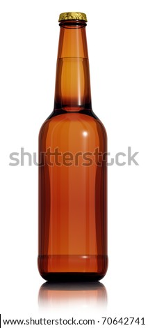 Bottle of beer isolated on white background. 3d render