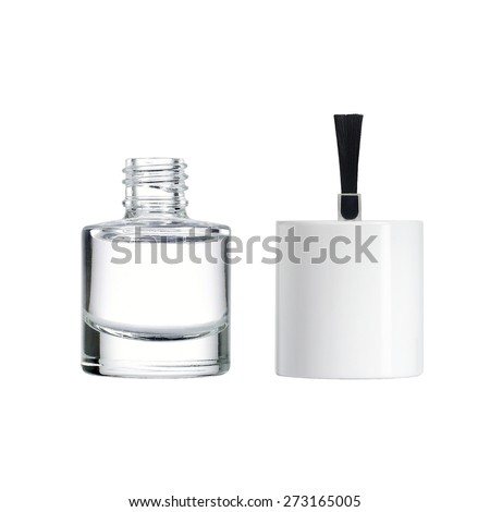 Bottle of clear nail polish with brush. #273165005