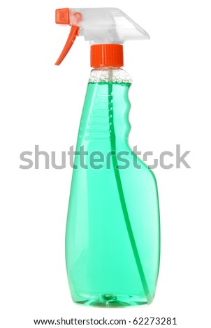 Bottle of detergent isolated on white background