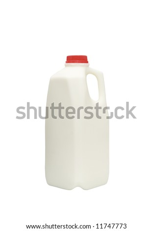 bottle of fresh milk isolated against white background