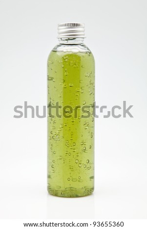 bottle of gel for body hygiene