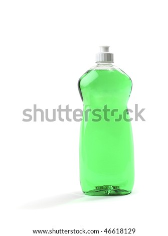 Bottle of Green Dish Soap