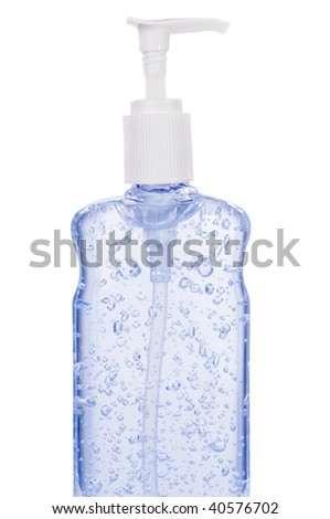 Bottle Of Hand Sanitizer With A Pump Dispenser