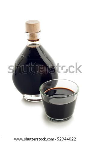 bottle of italian balsamic vinegar - stock photo