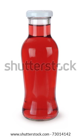 Bottle of juice  isolated over white background