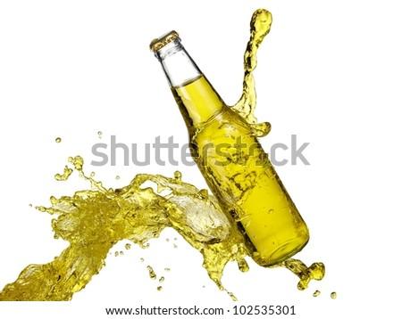 Bottle of lemonade splash