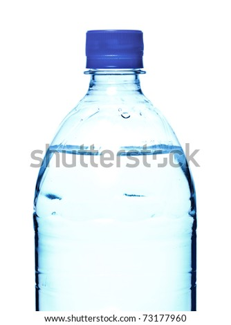 bottle of mineral water isolated on white