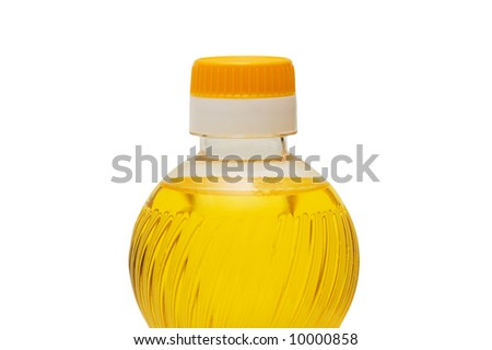 Bottle of olive oil isolated on the white