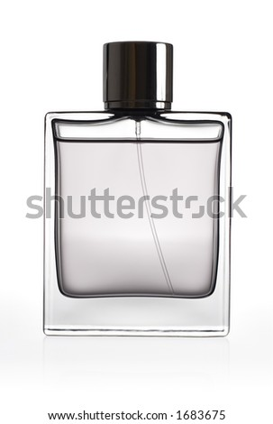 Bottle of perfume isolated over a white background