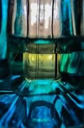 bottle of perfume water, glare of light