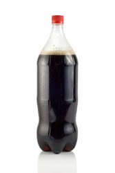 Bottle of soda isolated on a white background ( Path )