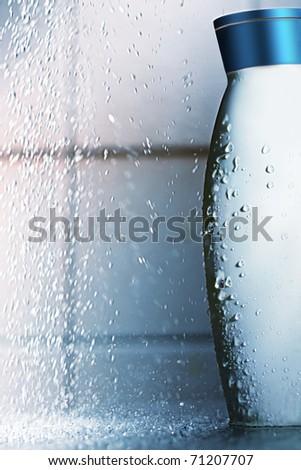 bottle of the shampoo