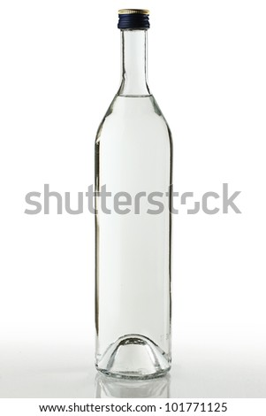 Bottle of vodka isolated on white