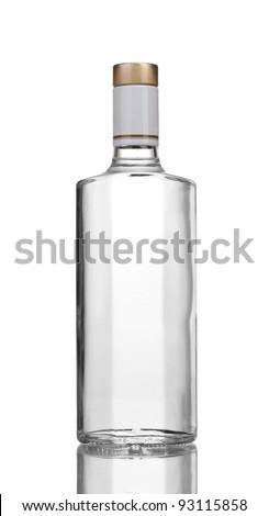 Bottle of vodka isolated on white #93115858