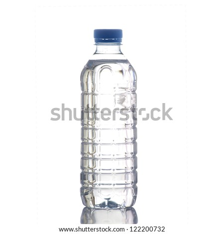 Bottle of water on high definition on a white background