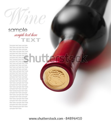 bottle of wine isolated on white background