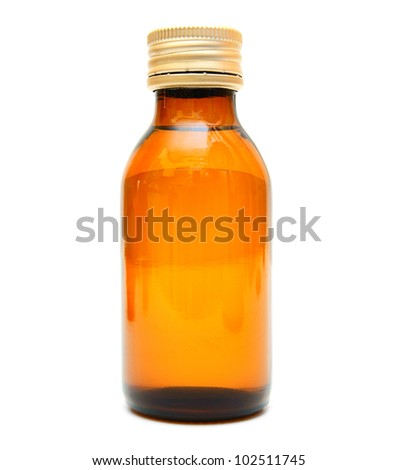 Bottle. On a white background.