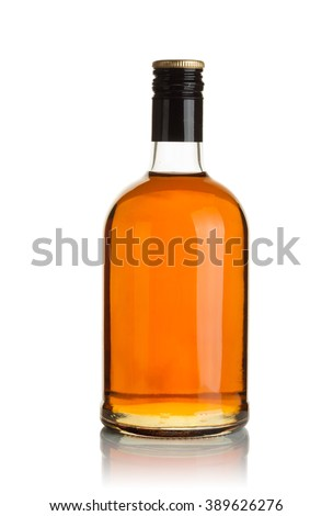 Bottle with alcohol on a white background #389626276