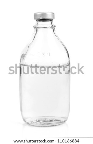 Bottle with saline