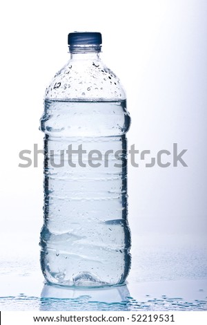 bottles filled with fresh water