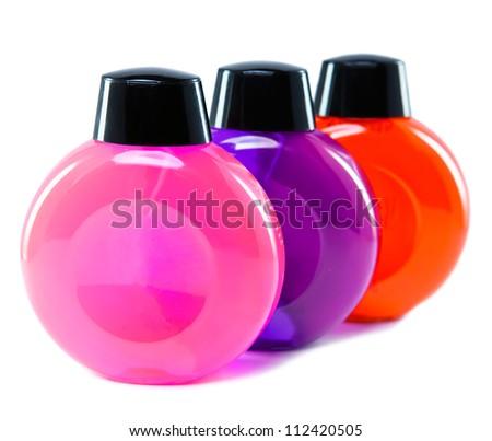 bottles for cosmetics - stock photo