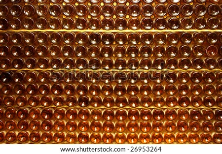 bottles of French white wine, horizontal picture #26953264