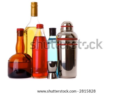 Bottles of fun - stock photo