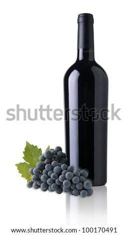 bottles of red wine for label design