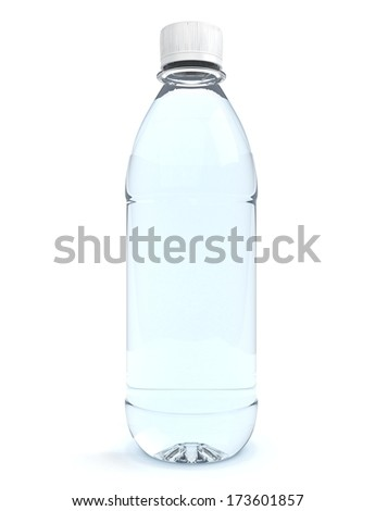 Bottles of water isolated on white background #173601857