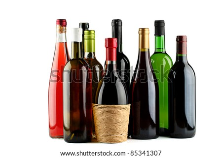 stock photo : Bottles of wine.
