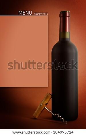 Bottles of wine on black background