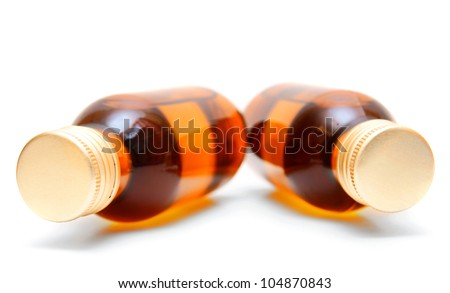 Bottles. On a white background.