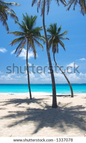 Bottom Bay Beach, Barbados - stock photo