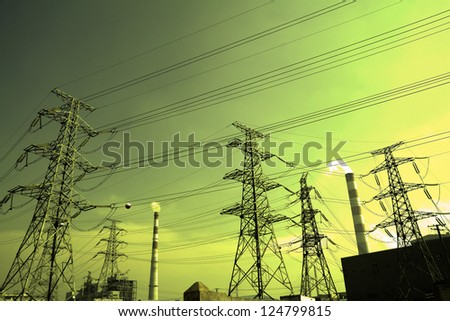 Bottom mesh transmission power towers